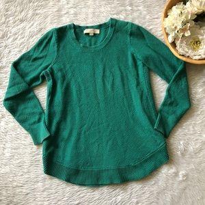 Loft Green Knit Sweater